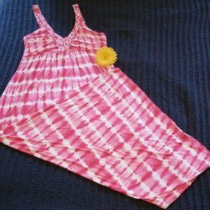 Gorgeous Pink Tye-Dye Maxi Dress by Design History